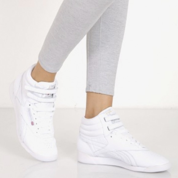 online store e0ad1 208d3 Reebok Classic White High Top Sneakers